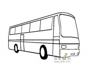 4种关于公共汽车的简笔画画法图片