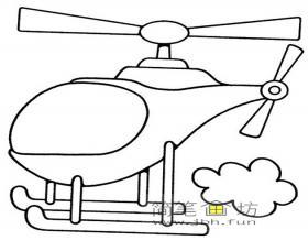 4幅关于简笔画直升机的图片