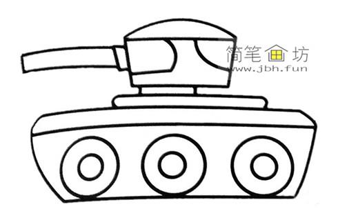 3种坦克彩色简笔画图片素材(1)