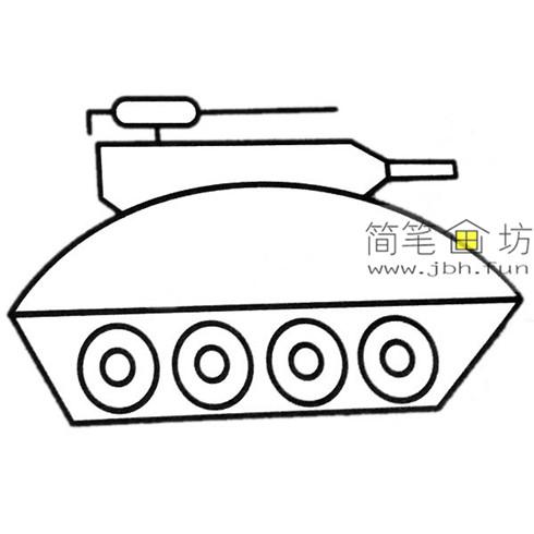 3种坦克彩色简笔画图片素材(3)