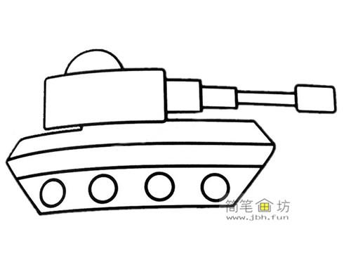 3种坦克彩色简笔画图片素材(5)