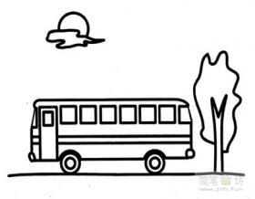 公共汽车简笔画图片大全(9幅)