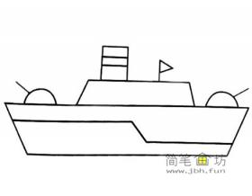 军舰的画法