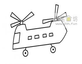 儿童简笔画:运输直升机的画法