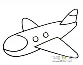 客机简笔画画法