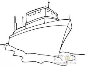 搁浅的大轮船简笔画