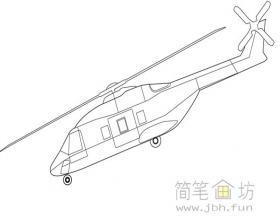 武装直升机的简笔画图片2幅