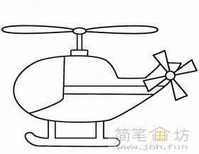简单的直升机简笔画