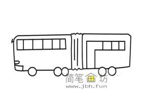 有轨电车简笔画图片