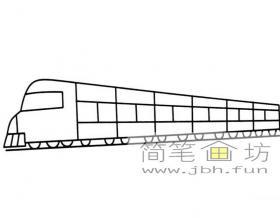 简笔画火车图片1幅