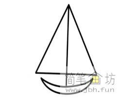 小帆船的简笔画图片