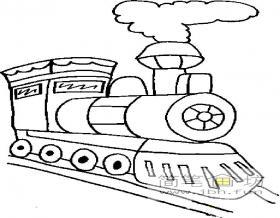 蒸汽火车头简笔画图片