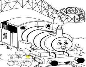 简笔画托马斯火车的图片