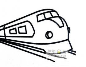 三幅火车、高铁的简笔画图片画法