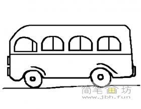 小型巴士简笔画图片