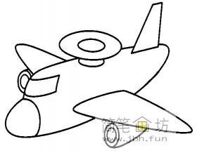 儿童简笔画预警机的画法图片
