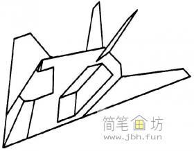 f117战斗机简笔画图片
