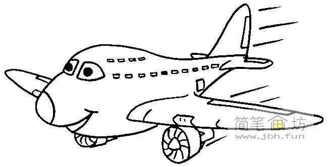 波音飞机简笔画图片2幅(2)