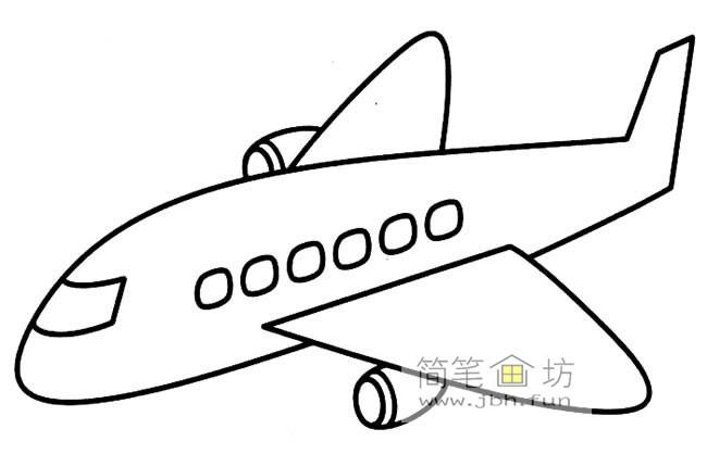 波音飞机简笔画图片2幅(1)
