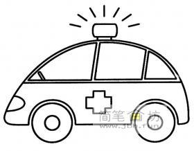 简笔画救护车图片