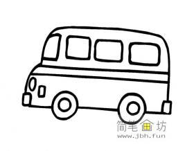 中巴汽车简笔画图片