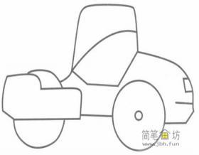 敞篷小汽车的简笔画图片