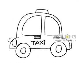 Q版出租车的简笔画