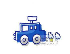儿童简笔画:小汽车的绘画步骤