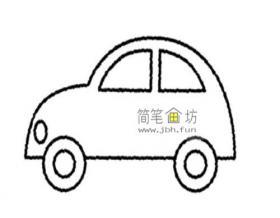 简单的小汽车简笔画画法步骤