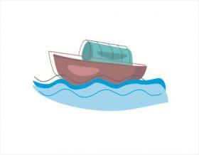 乌篷船的简笔画教程【彩色】
