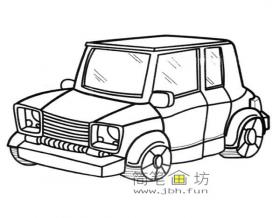 SUV汽车的简笔画图片1幅