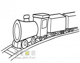 小火车的简笔画图片