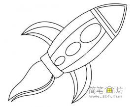 简单的火箭的简笔画图片
