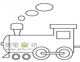 火车头简笔画图片