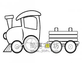 可爱的小火车简笔画图片