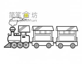 漂亮的小火车简笔画图片