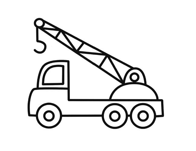 吊车简笔画图片【彩色】(1)