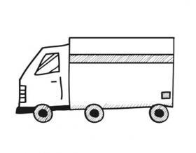 大货车简笔画图片