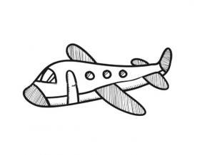 可爱的飞机简笔画图片