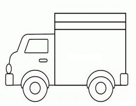 卡车简笔画图片