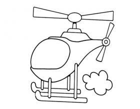 直升飞机简笔画图片