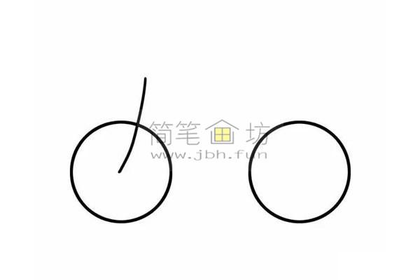 8个步骤教你学画儿童简笔画自行车【彩色】(3)