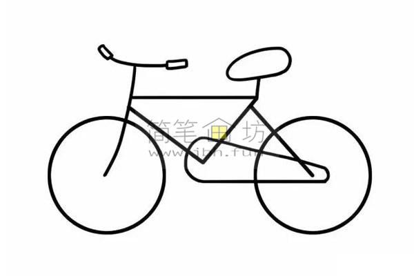 8个步骤教你学画儿童简笔画自行车【彩色】(6)