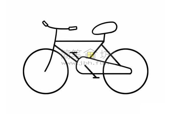 8个步骤教你学画儿童简笔画自行车【彩色】(7)