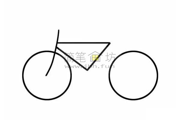 8个步骤教你学画儿童简笔画自行车【彩色】(4)