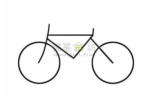8个步骤教你学画儿童简笔画自行车【彩色】(5)