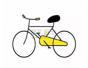 8个步骤教你学画儿童简笔画自行车【彩色】