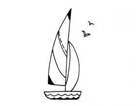 简笔画帆船的画法教程