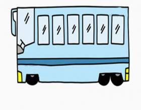 儿童简笔画公交车的画法