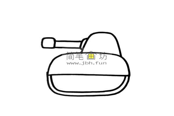 彩色小坦克的儿童简笔画画法(3)